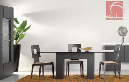 Sala de jantar moderna barata em carvalho cor wengue