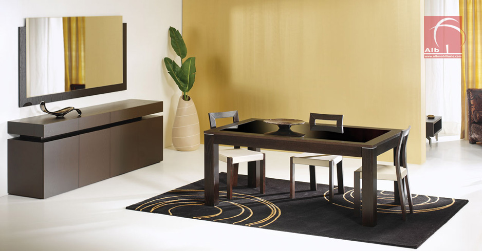 Mueble comedor alb mobilirio e decorao paos for Muebles y comedores modernos