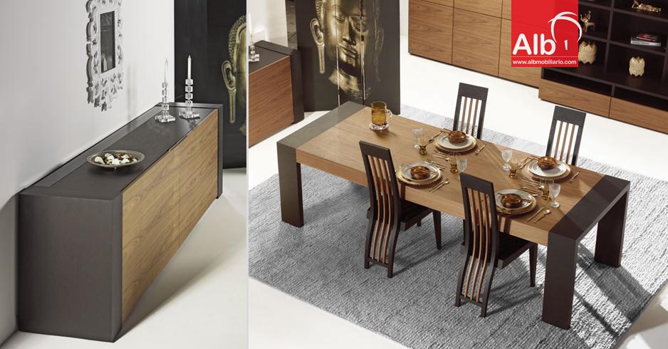 Mueble comedor alb mobilirio e decorao paos for Comedor moderno de madera