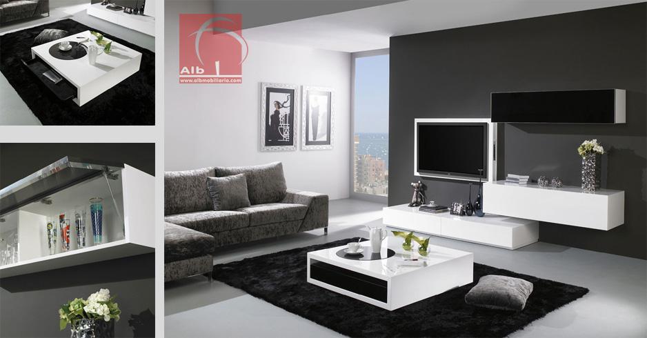 Mueble de saln mueble salon minimalista decorar tu for Muebles de salon minimalistas