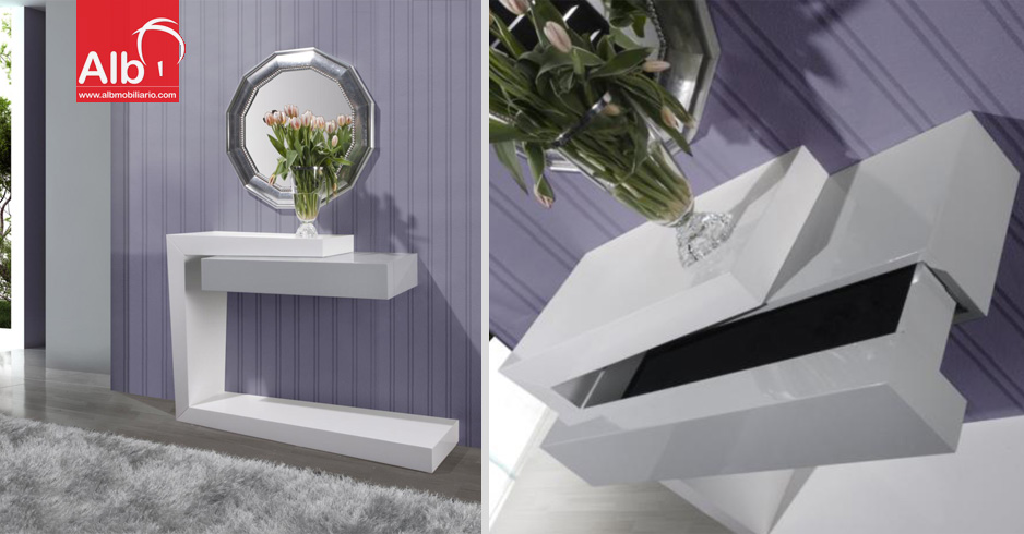 Mueble recibidor tienda online de muebles for Muebles de entrada modernos