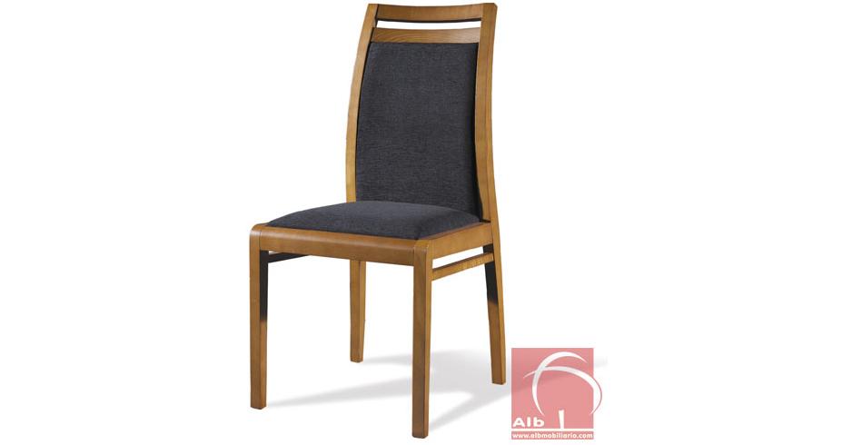 Silla comedor respaldo alto venta de sillas fabrica de for Sillas de cuero para comedor