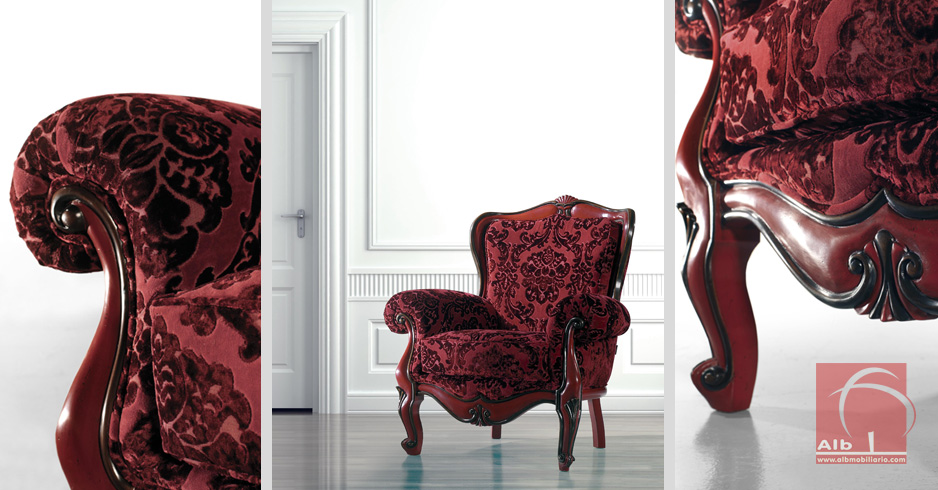 Sillone clasico sillones tapizados en tela venta de - Sillones tapizados en tela ...