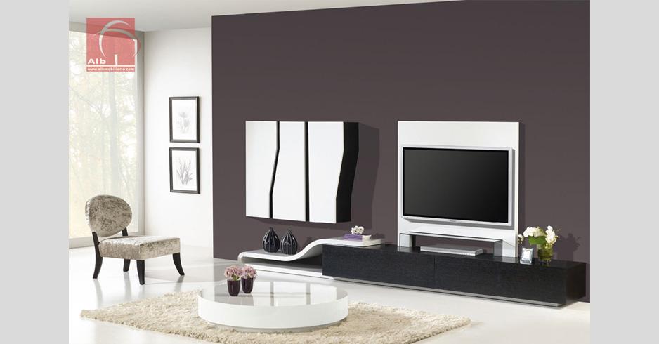 Sala de estar estante moderna barata 1005 5 alb for Salas de television modernas