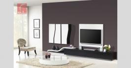 sala de estar moderna lacada, mesa de centro lacada com tampo de vidro