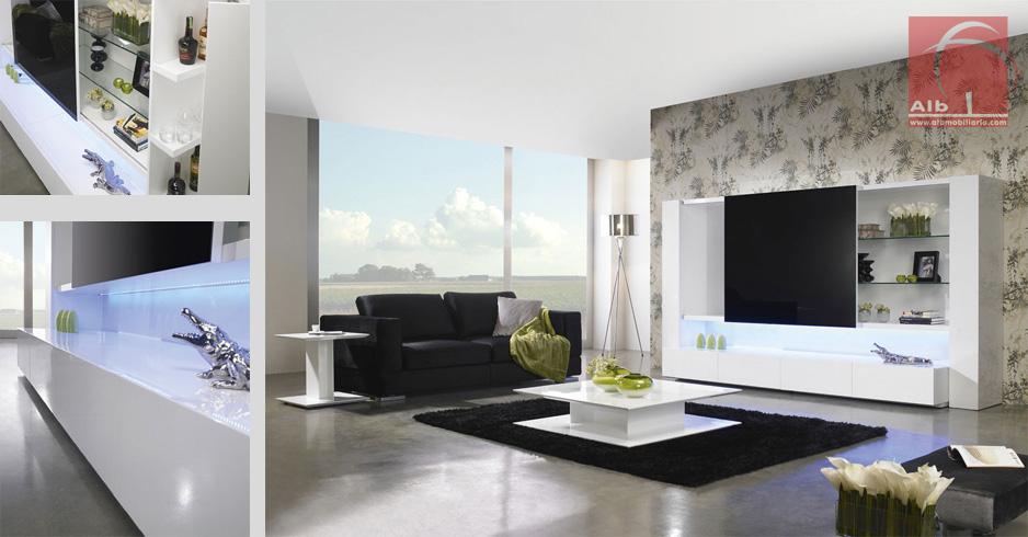 Mueble de saln alb mobilirio e decorao paos - Salones de estar ...