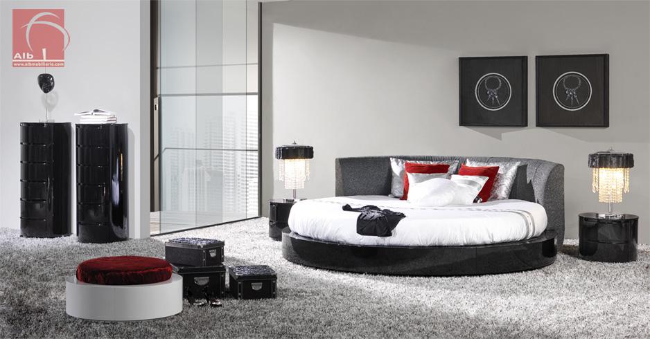 Couple Bedroom Modern Round Bed 1005 9 Alb Mobilirio E Decorao Paos De Ferreira