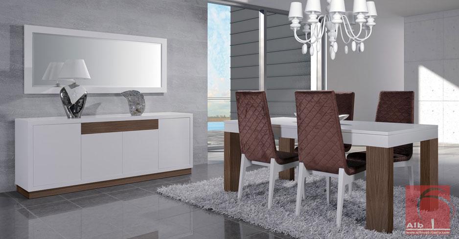 Sala de jantar loja online de m veis 1019 3 alb mobili rio e decora o pa os de - Mobiliario on line ...