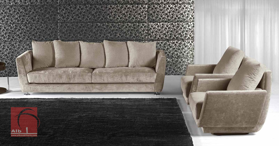2 3 4 seat sofa with cushions in fabric alb for Imagenes de sofas