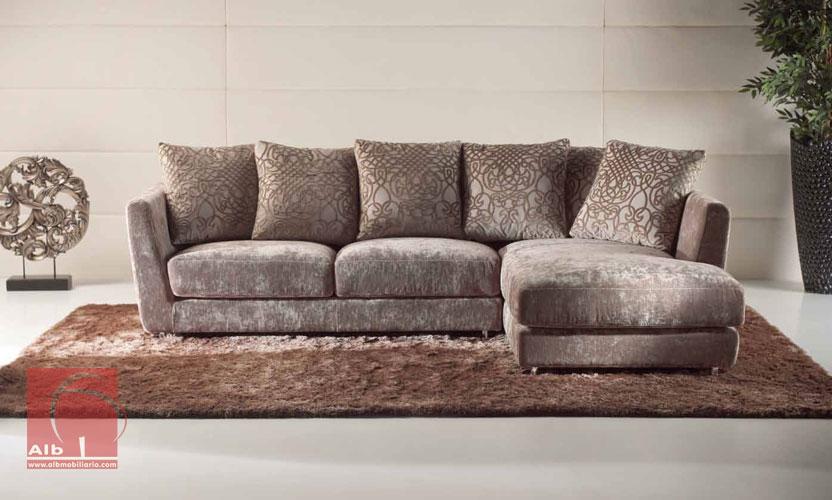 Sof chaiselongue tapizado en tela vigo alb - Telas para tapizar sofas precios ...