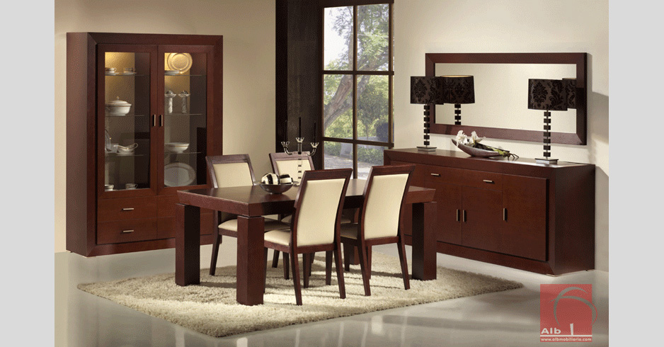 Sala de jantar 1017 2 alb mobilirio e decorao paos for Muebles para sala comedor modernos