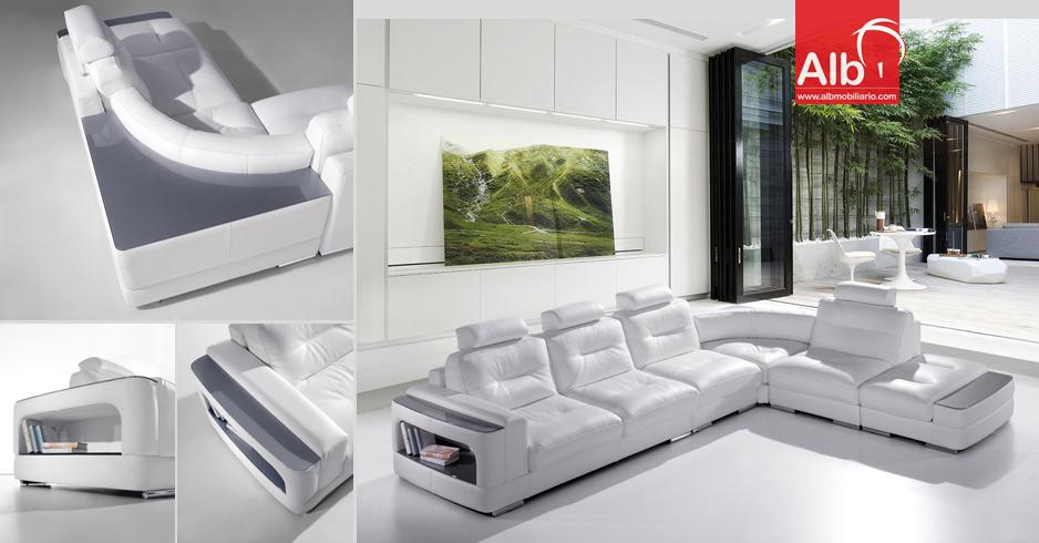 Sof de canto moderno ao melhor preo 1006 1 alb for Imagenes de sofas modernos