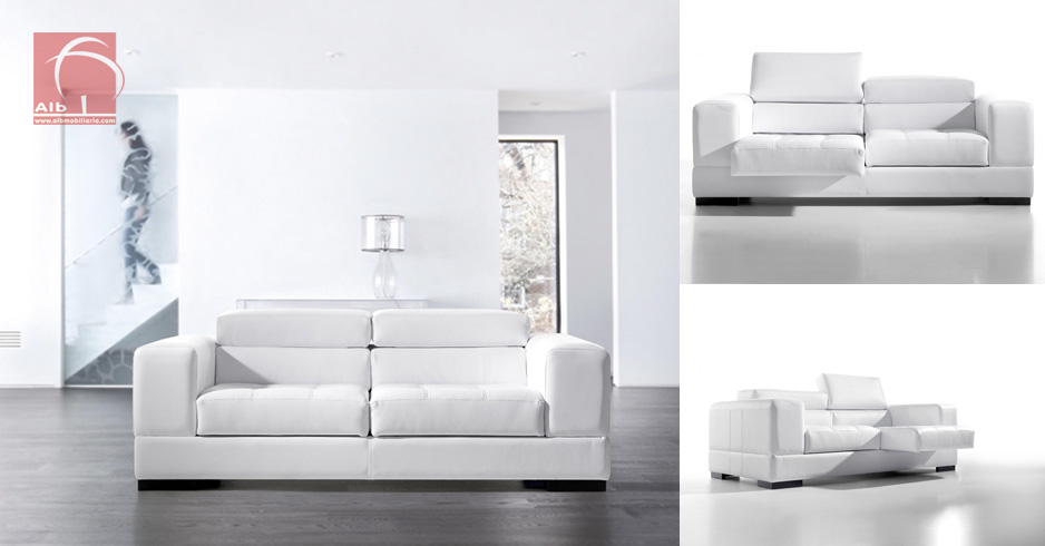 sofa relax modern modular 1006 2 alb mobilirio e. Black Bedroom Furniture Sets. Home Design Ideas