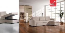 sofá cama com chaise longue moderno e barato