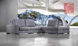 Sofa de canto modular e moderno com zona de descanso