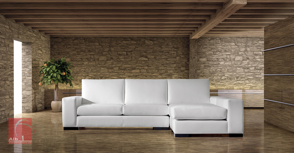 Sof chaise longue moderno porto 1006 4 alb for Sofa con chaise longue