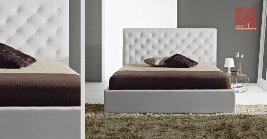 Cama tapizada - Tienda online de muebles | - 1020.3 - ALB Mobiliário ...