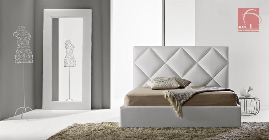 Cama tapizada tienda online de muebles 1020 1 alb for Cama tapizada