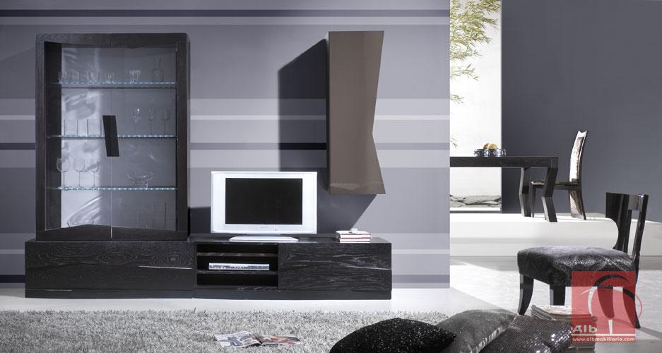 Muebles salon minimalista mueble de saln con diseo curvo for Mueble salon minimalista