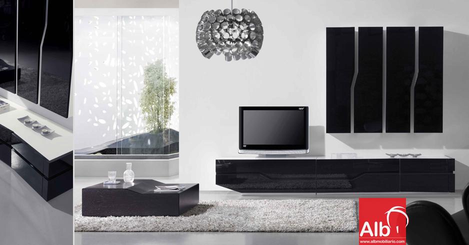 Mueble de saln estanteras y libreras de saln moderna for Mueble salon television