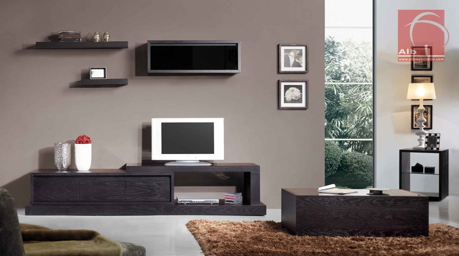 Living room tv shelf modular living room layout ideas - Muebles para television modernos ...