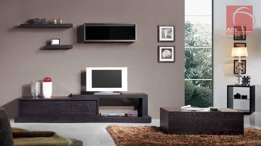 Mueble tv modernos muebles para el televisor for Mueble salon television