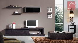Estante TV em carvalho cor wenguê