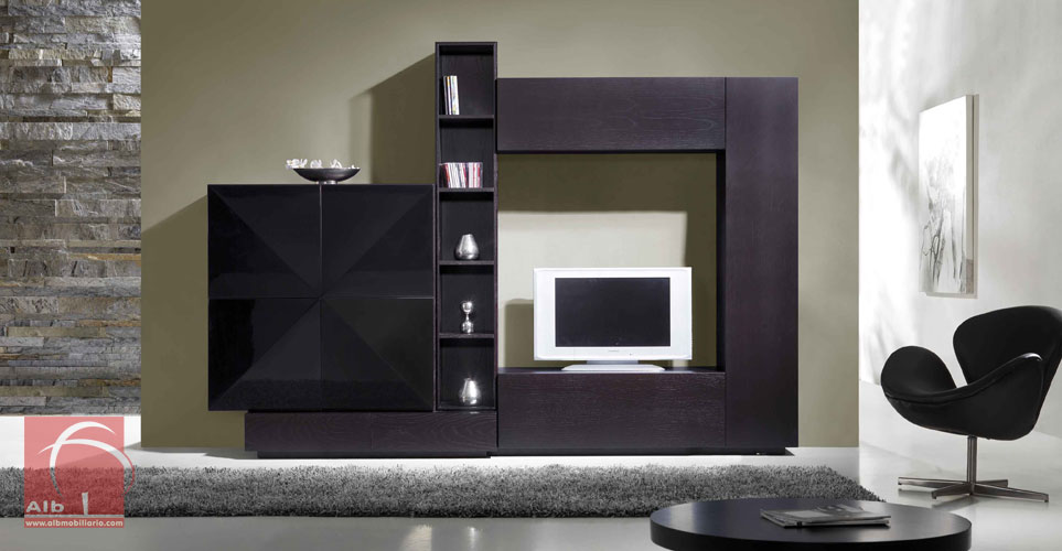 Mueble tv modernos muebles para el televisor led for Muebles modulares modernos para tv