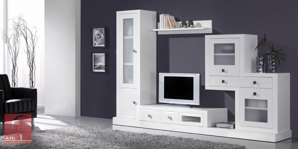 Mueble tv modernos muebles para el televisor led for Mueble para tv blanco