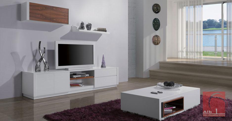 Sala De Estar Moderna Com Tv ~ Estante mvel tv lacado para sala de estar