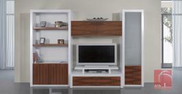 Estante móvel tv lacado para sala de estar