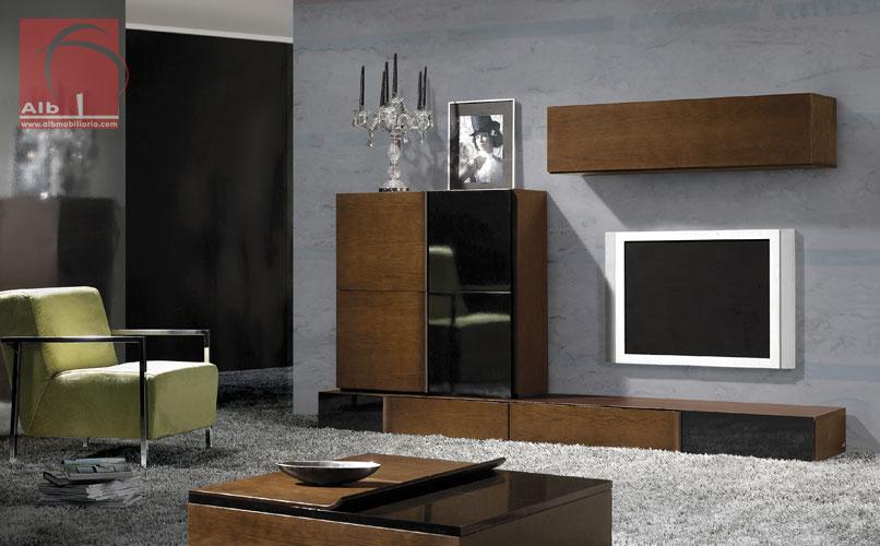 Mueble salon minimalista cama y cabezal elaborados en for Mueble salon minimalista