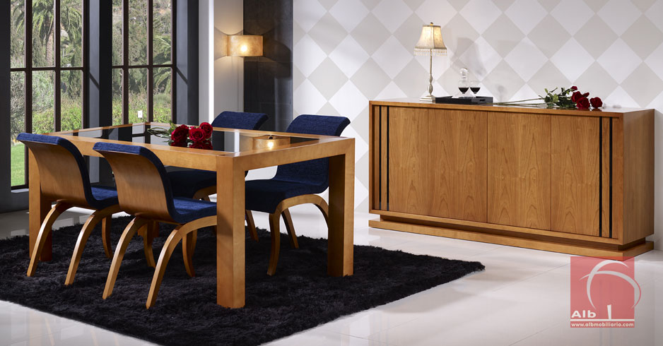 Mueble comedor moveis modernos para sala salon saln for Salas de madera modernas