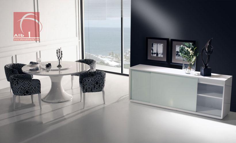 Sala de jantar 1005 6 alb mobilirio e decorao paos - Mesas de sala modernas ...