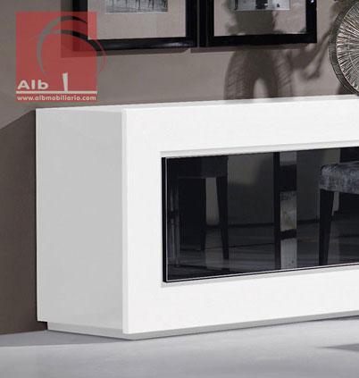 Sala de jantar alb mobili rio e decora o for Aparadores blancos modernos