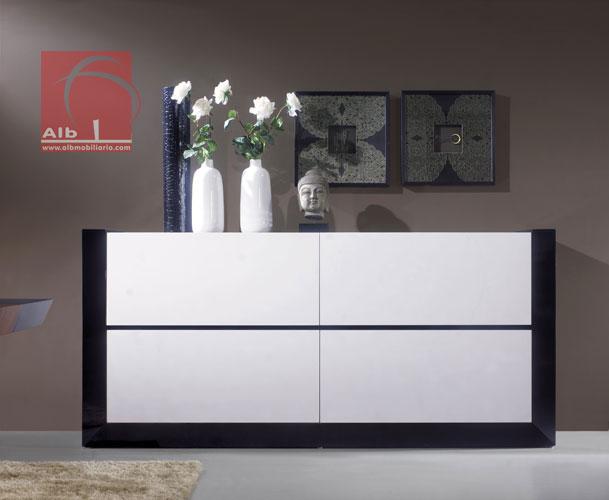 Armario Cama Plegable Ikea ~ Aparador Blanco Brillo Moderno Great Aparador Puertas