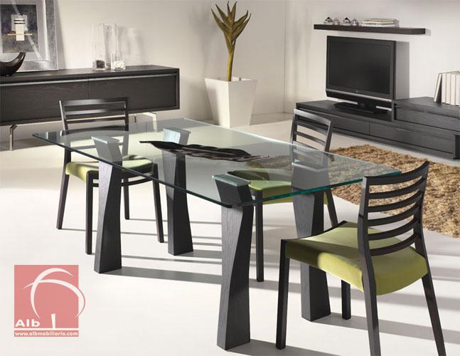 Mesa Sala De Jantar Tampo De Vidro ~ mesa de jantar moderna de tampo de vidro