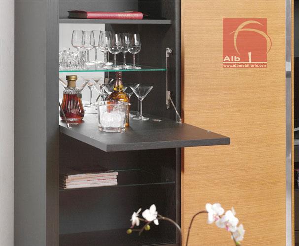 Mueble de saln modernos muebles para el televisor for Modelos de muebles para bar