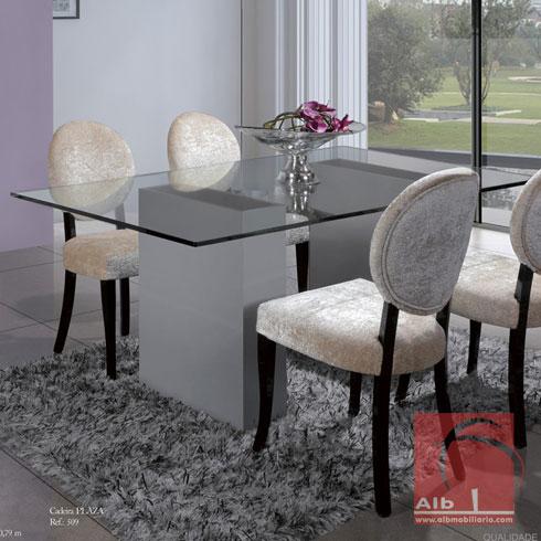 Mesas de jantar modernas de vidro