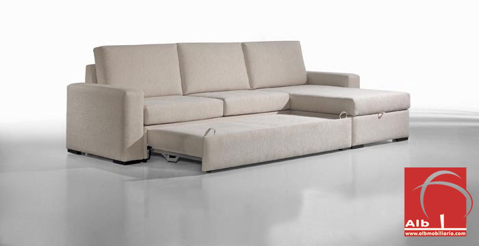 Sof cama chaise longue barato y moderno 1006 3 alb for Sofa cama chaise longue
