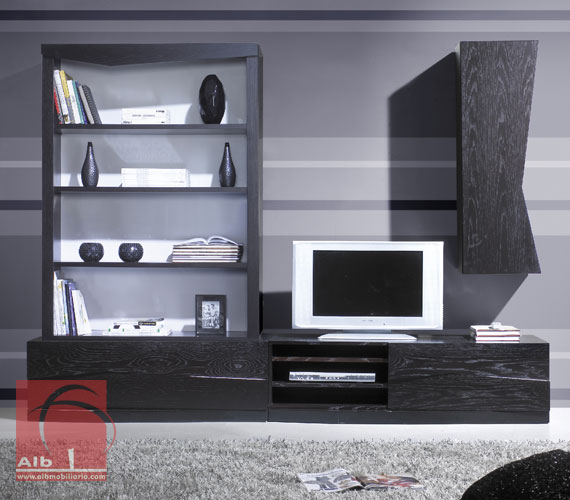 Mueble tv mueble salon minimalista decorar tu casa alb mobilirio e decorao - Mueble salon tv ...