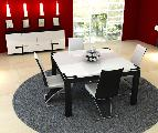 dining room table chairs sideboard lamp