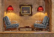 Armchair lamp frame