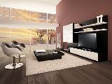 Living room TV furniture coffee table chairs