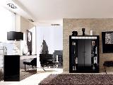 sala de estar tapete cadeirão candeeiro armário quadros
