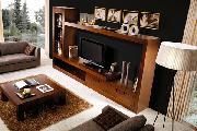 sala de estar mesa de centro sofá móvel de tv