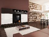 Living room TV furniture coffee table chairs table sofa bookcase