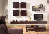 sala de estar móvel de tv mesa de centro sofás