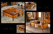 Living room coffee table armchair