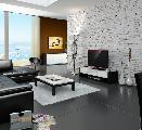 sala de estar mesa de centro sofás candeeiro